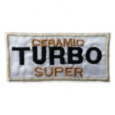 TURBO BADGE MOTIF IRON ON EMBROIDERED PATCH APPLIQUE